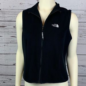 North Face Black Fleece Vest Size Large